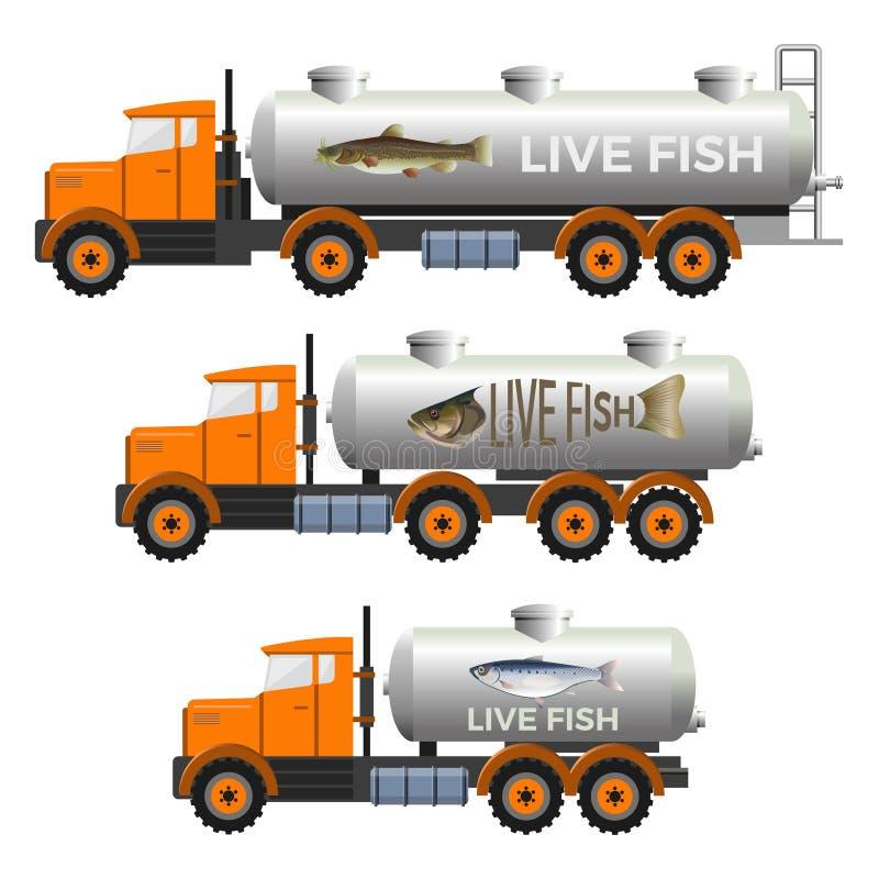 Тележки садка для рыбы иллюстрация штока