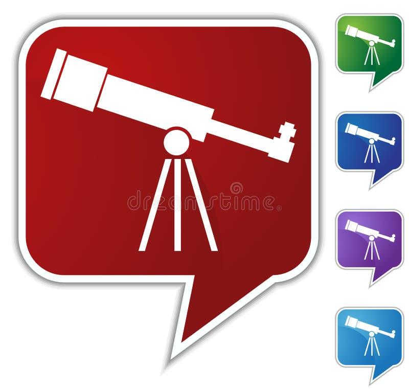 телескоп речи пузыря установленный бесплатная иллюстрация
