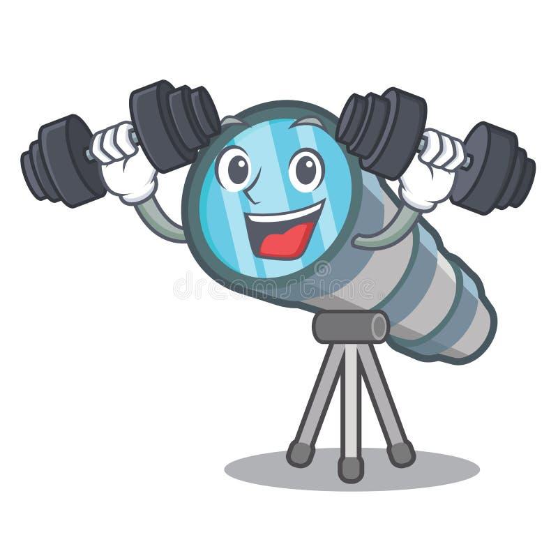 Телескоп фитнеса изолированный с в талисманом бесплатная иллюстрация