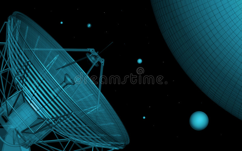 телескоп иллюстрация вектора