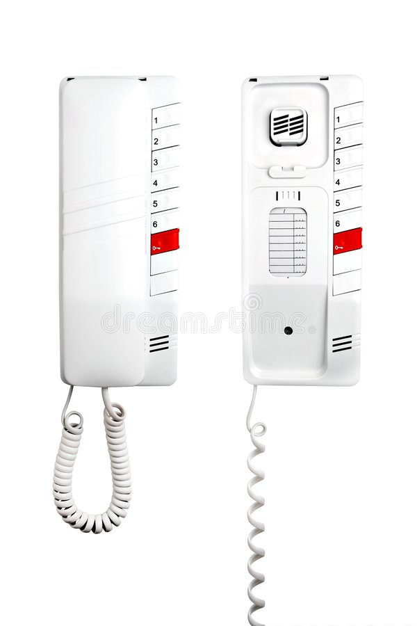 телефоны внутренной связи двери стоковые изображения