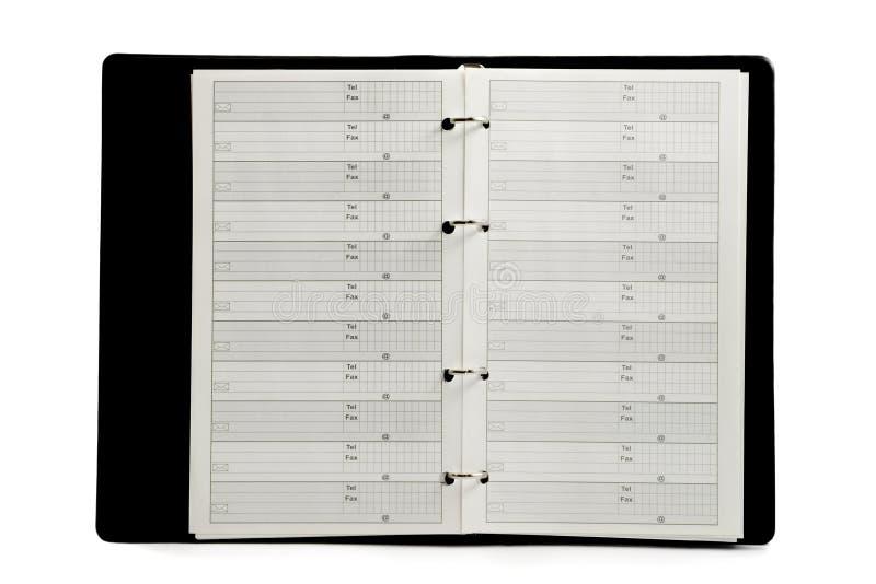 телефон адресной книга стоковая фотография rf