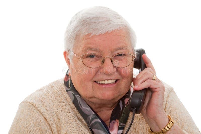 телефон бабушки стоковое фото