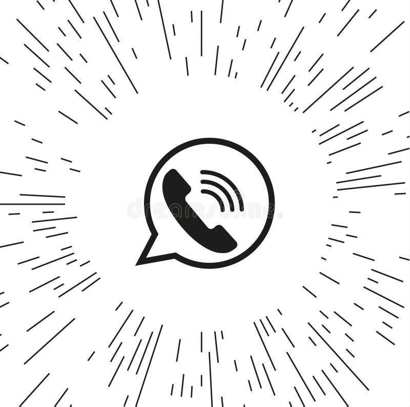 Телефон значка вектора иллюстрация штока