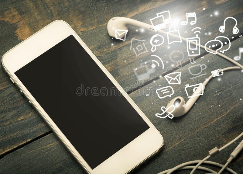 Телефон и громкоговоритель стоковая фотография rf