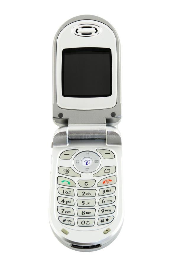 телефон клетки изолированный clamshell стоковая фотография