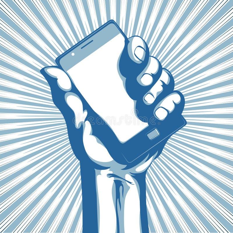 телефон клетки самомоднейший иллюстрация штока