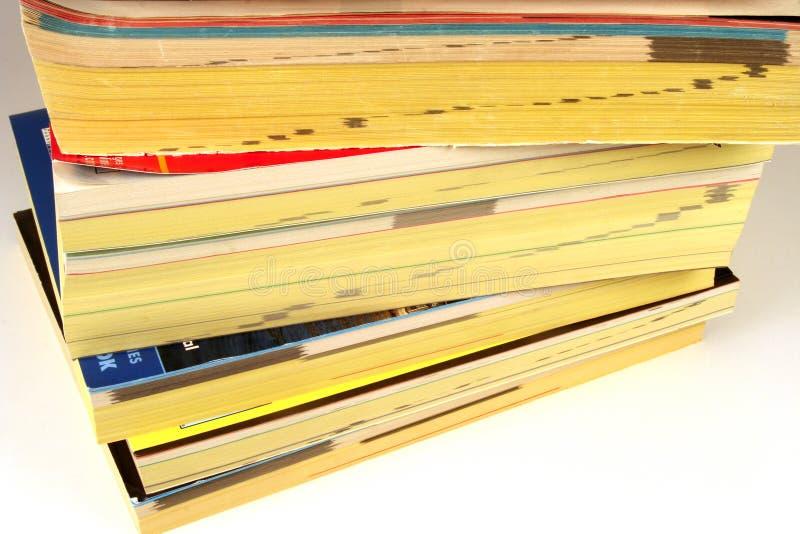 телефон книг стоковое изображение rf