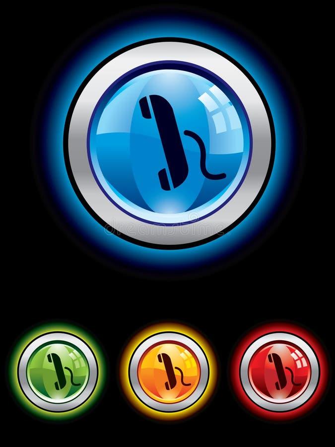 Download телефон кнопки лоснистый иллюстрация вектора. иллюстрации насчитывающей интернет - 6864570
