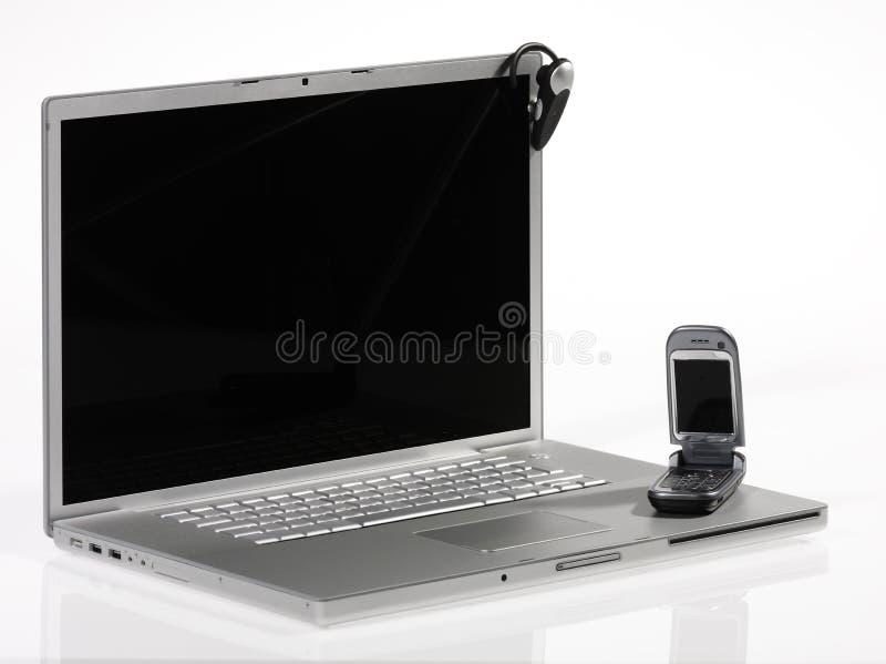 телефон компьютеров стоковое фото rf