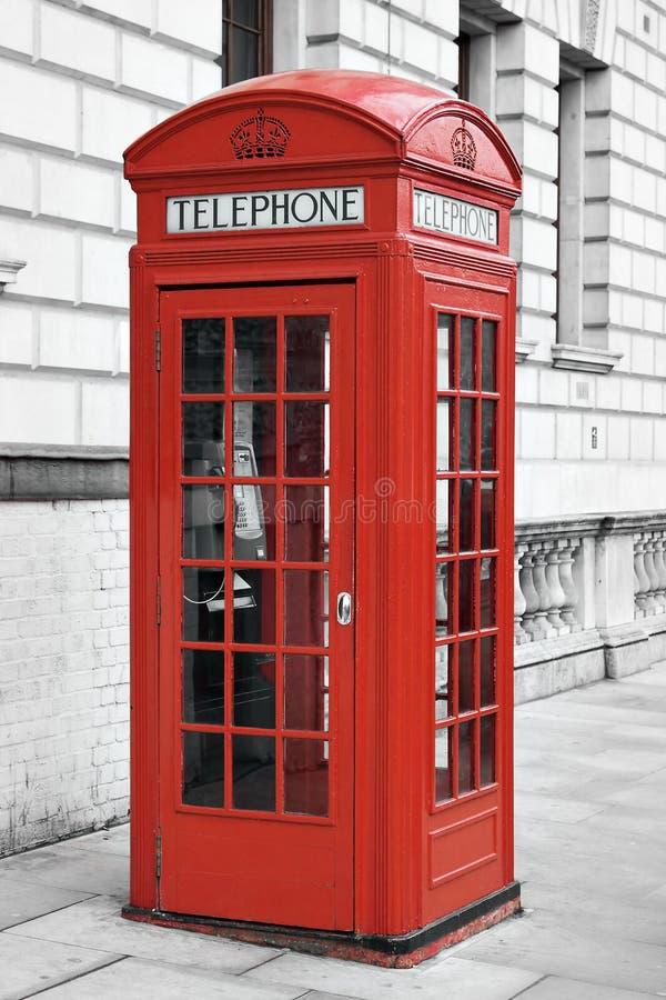 телефон красного цвета Англии london будочки стоковые фотографии rf