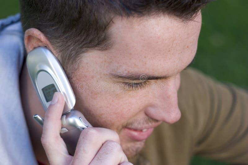 телефон мальчика стоковые фотографии rf