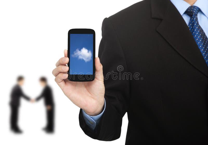 телефон облака вычисляя франтовской стоковое фото rf