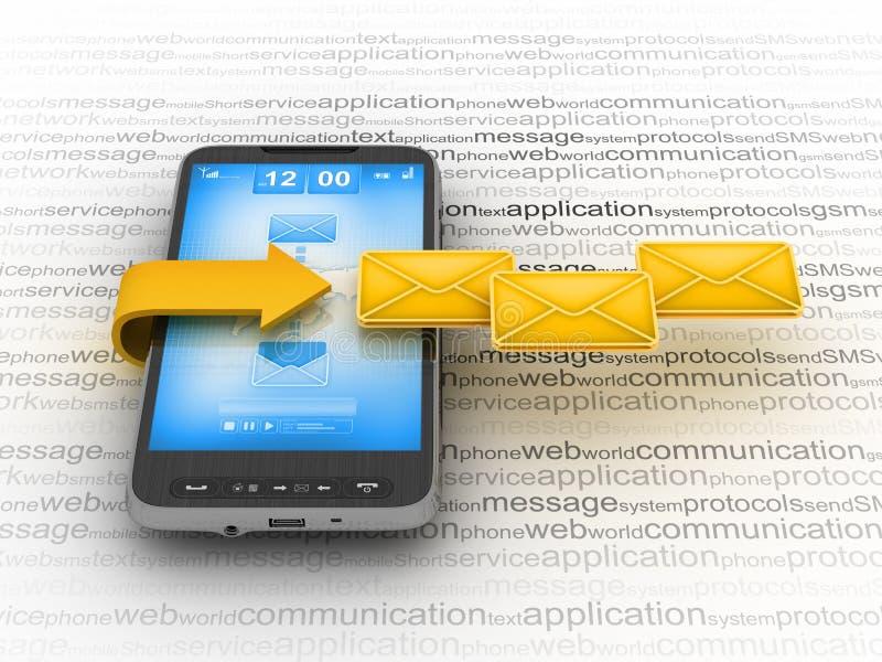 телефон почты клетки e иллюстрация вектора