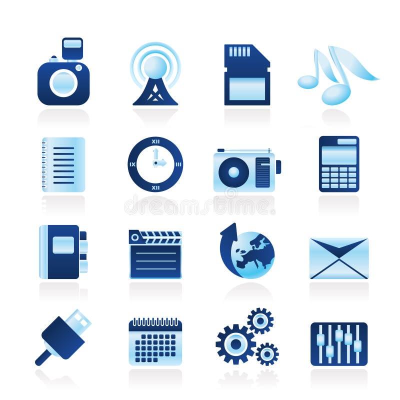 телефон представления офиса интернета икон иллюстрация штока