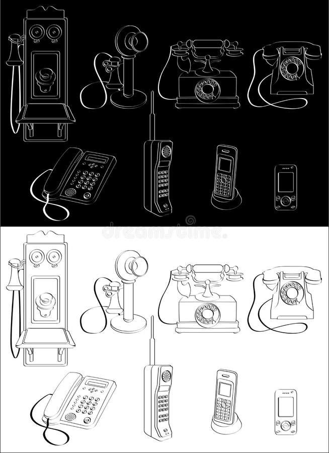 телефон развития иллюстрация вектора