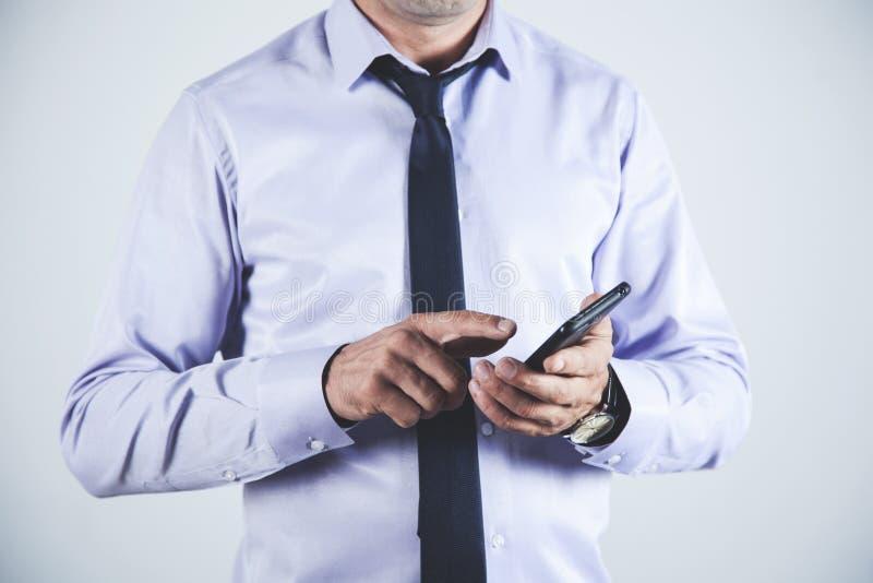 Телефон руки человека стоковые фотографии rf