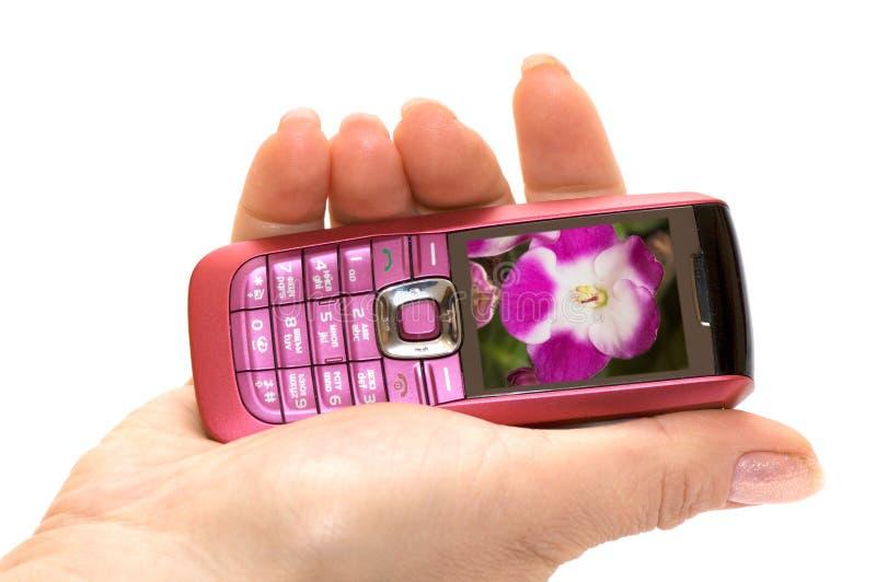телефон руки стоковое изображение rf