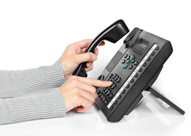 телефон рук стоковое изображение