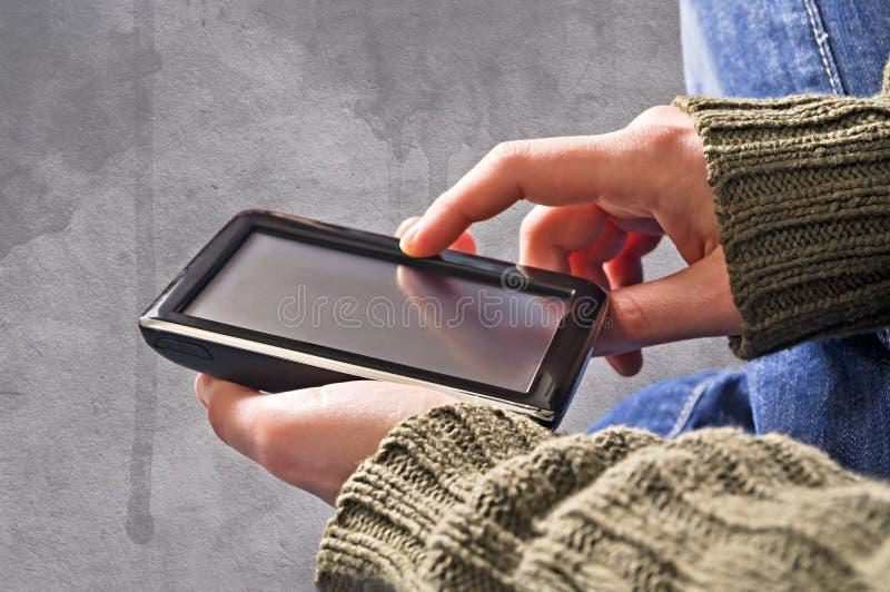 Телефон сенсорного экрана стоковые изображения