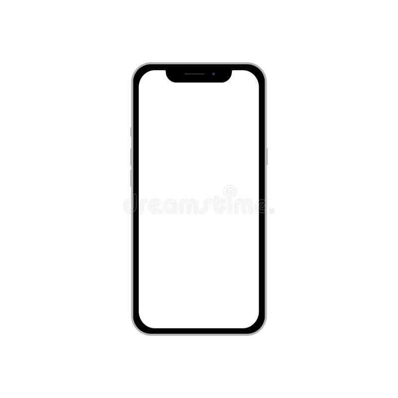 Телефон с пустым белым экраном для infographic плана капиталовложений маркетинга глобального бизнеса, веб-дизайна модель-макета м стоковое изображение rf