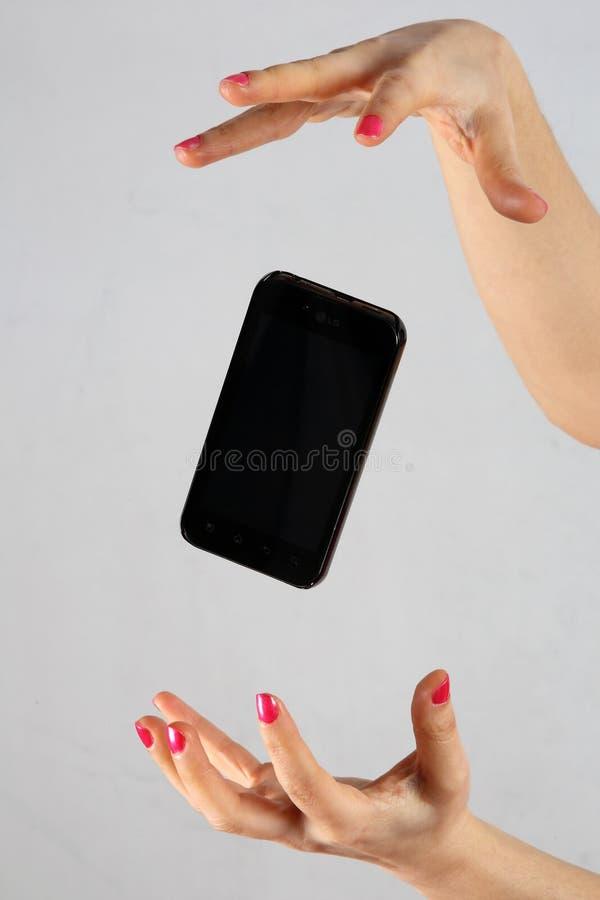 телефон франтовской стоковое фото rf