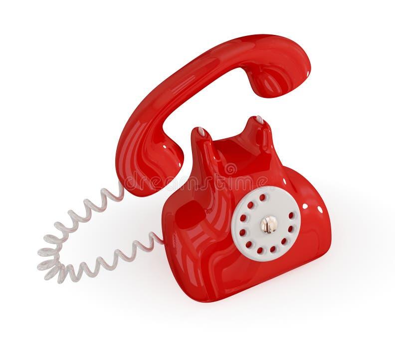 Download телефон шаржа ретро иллюстрация штока. иллюстрации насчитывающей прибор - 18382075