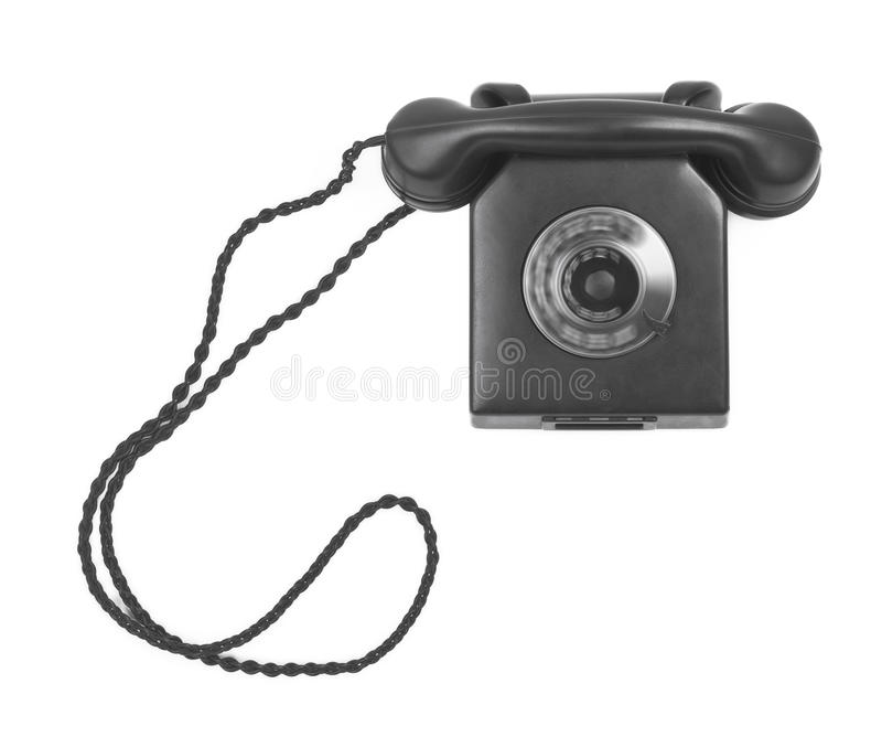 телефон шкалы бакелита старый spining стоковая фотография