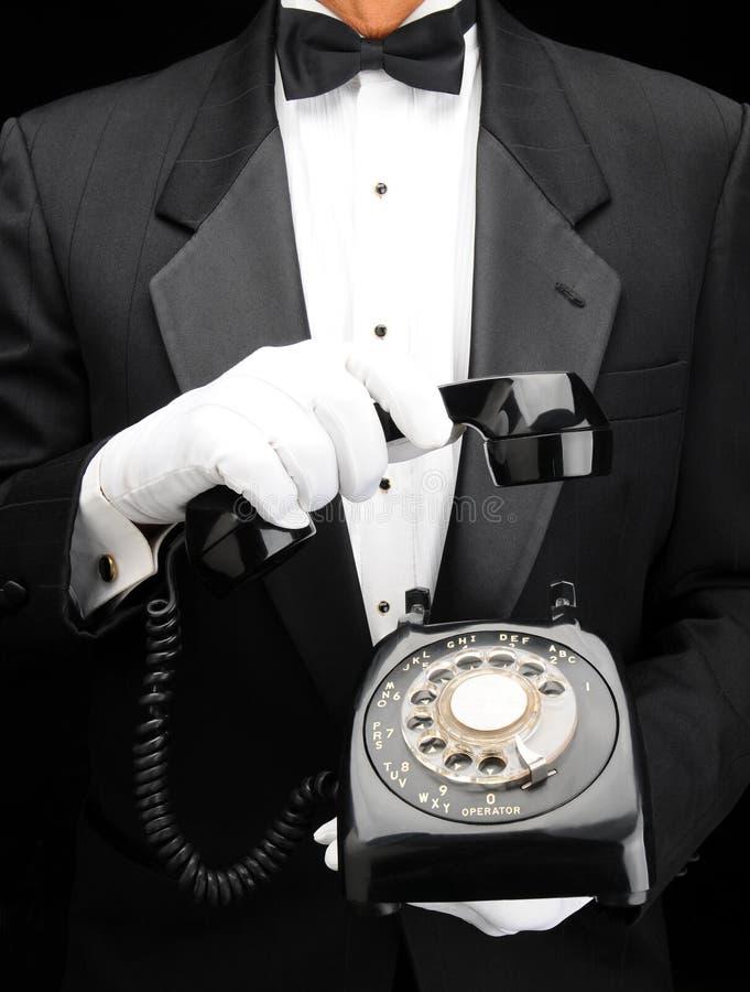 телефон шкалы дворецкия стоковые изображения rf