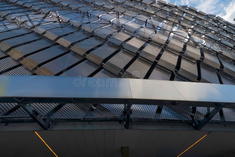 Теле2 ареной во время матча между Джургарденом и АИК в каменистом футболе Алсвенскан стоковое фото