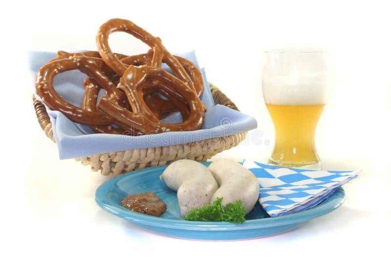 телятина сосиски стоковая фотография