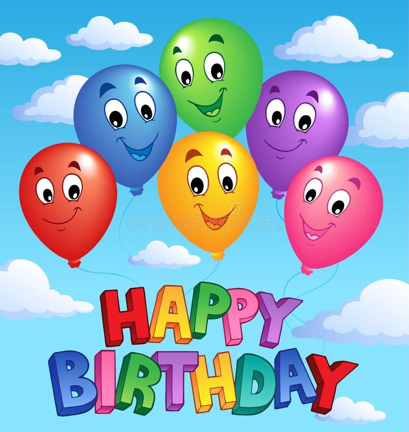 тема изображения 3 дней рождения счастливая иллюстрация вектора