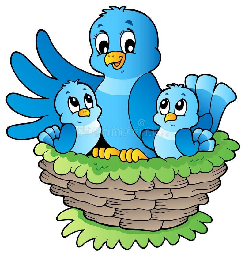 тема изображения 3 птиц Стоковые Изображения RF