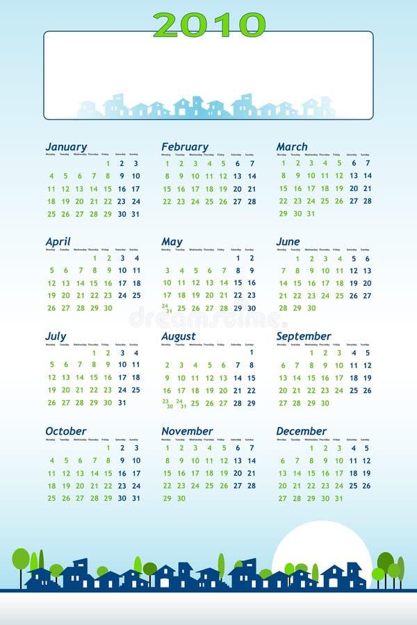 тема конструкции 2010 календаров иллюстрация штока