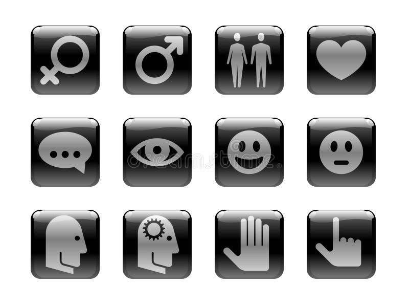 тема людской иконы установленная бесплатная иллюстрация