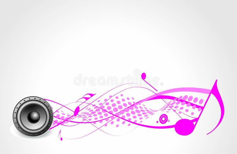 Тема нот с диктором стоковое изображение rf