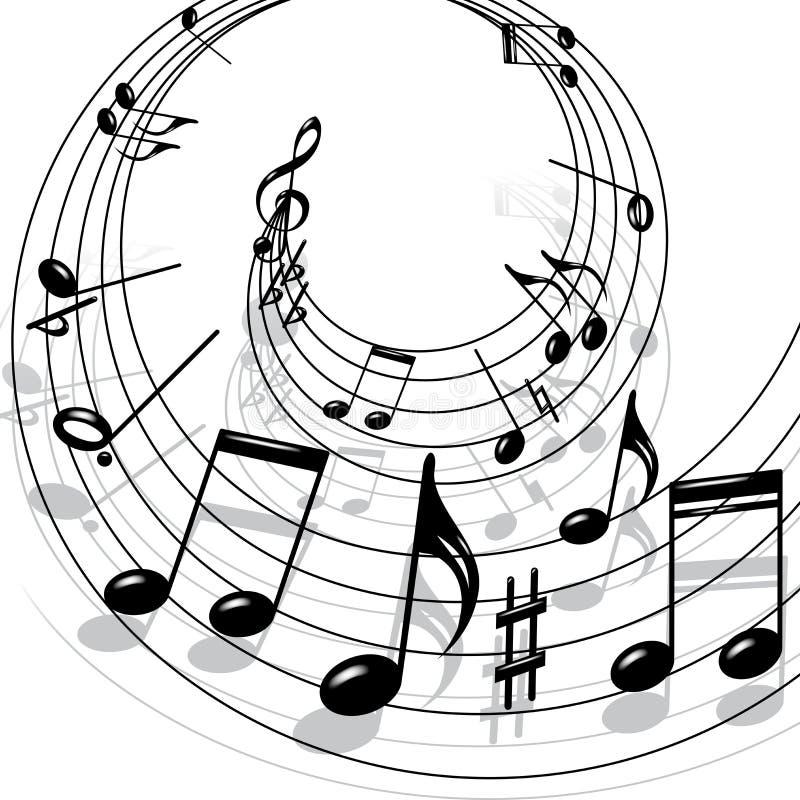 тема нот иллюстрация штока