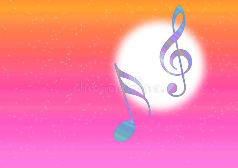 тема нот иллюстрация вектора