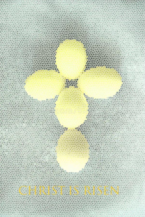 Тема пасхи абстрактные christeggs стоковая фотография