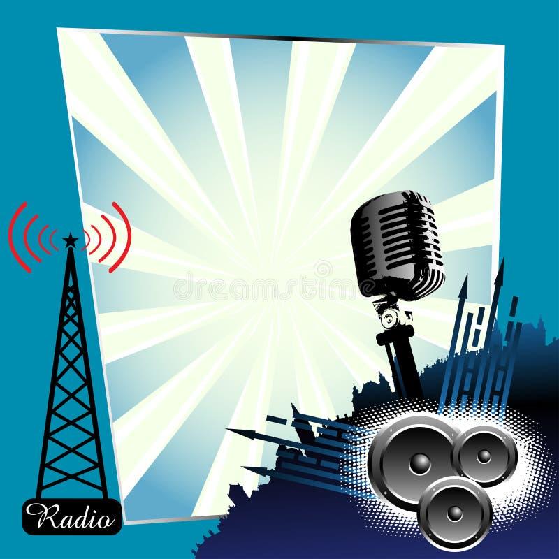 тема радио иллюстрация вектора