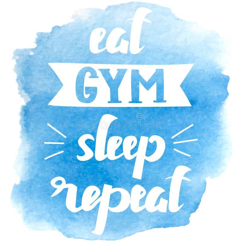 Тема спорта типографская Мотивационная и вдохновляющая иллюстрация Letteryng Хороший для логотипа, дизайна футболки, знамени бесплатная иллюстрация