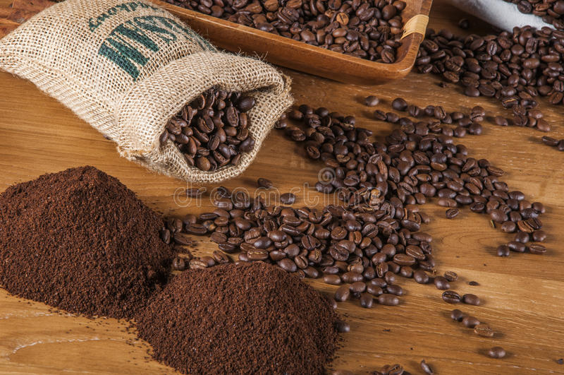 Тема страны с кофе стоковые фотографии rf