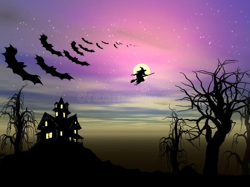 тема halloween иллюстрация штока