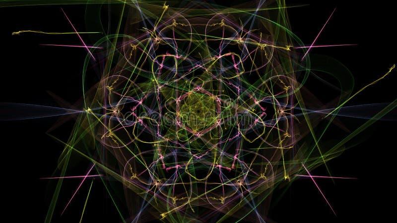 Темная абстракция clockwork, дизайна steampunk иллюстрация штока