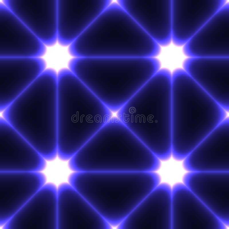 Темная безшовная предпосылка с пунктами соединенными синью иллюстрация штока