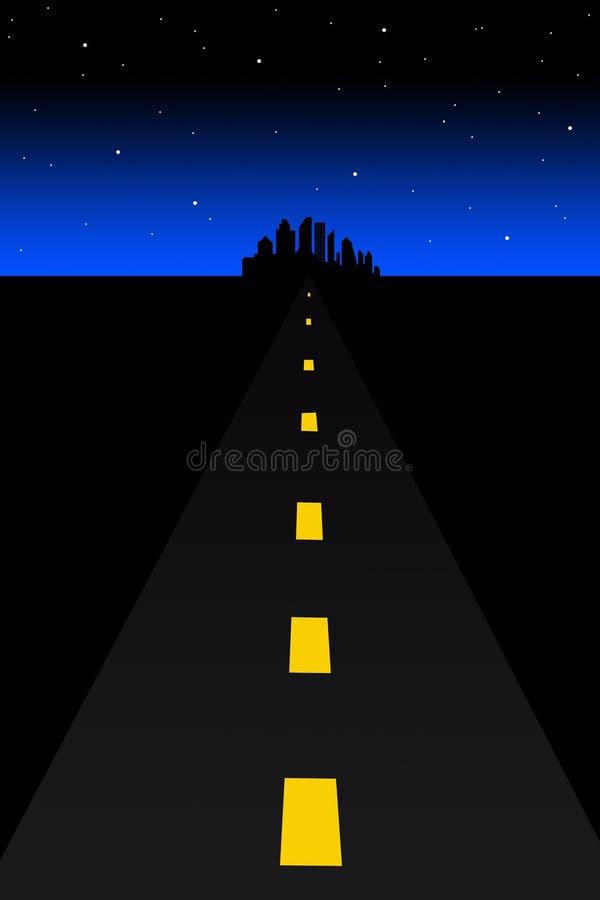 темная дорога иллюстрация вектора