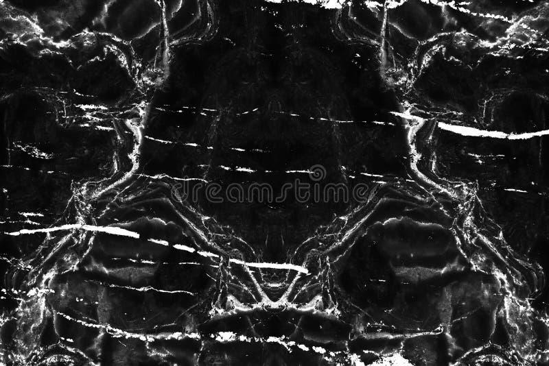 Темная естественная мраморная картина текстуры для черной предпосылки Кожа l стоковое изображение rf
