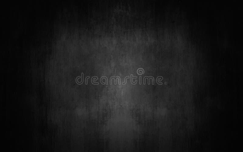 темная и серая абстрактная стена цемента и bac градиента комнаты студии стоковое фото