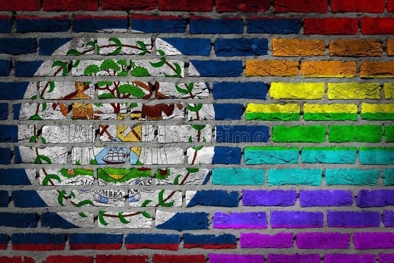 Темная кирпичная стена - права LGBT - Белиз стоковое изображение
