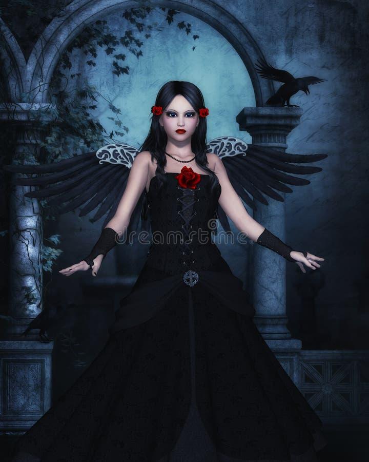 Download Темная компьютерная графика Анджела Иллюстрация штока - иллюстрации насчитывающей темно, иллюстрация: 33736646